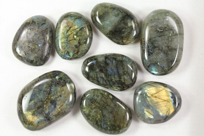 Wholesale Lot: 25 Lbs Quality Polished Labradorite - 46 Pieces