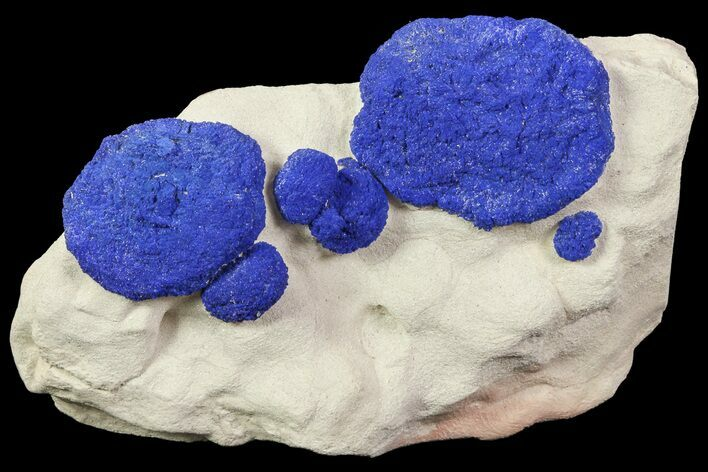 Brilliant Blue Azurite Sun Cluster On Rock - Australia