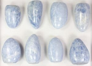 Buy Wholesale Lot: 10 Lbs Free-Standing Polished Blue Calcite - 8 Pieces - #77722