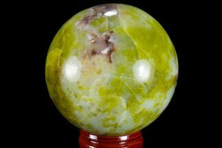 "2.2"" Polished Green Opal Sphere - Madagascar For Sale, #78770"