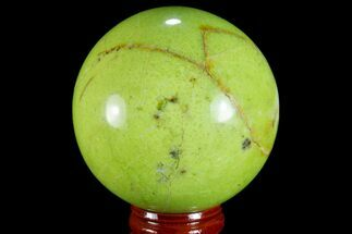 "2.4"" Polished Green Opal Sphere - Madagascar For Sale, #78773"