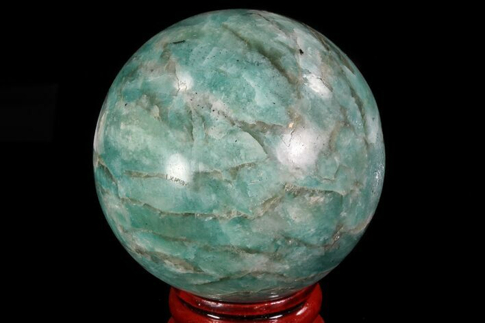 "2"" Polished Amazonite Crystal Sphere - Madagascar"