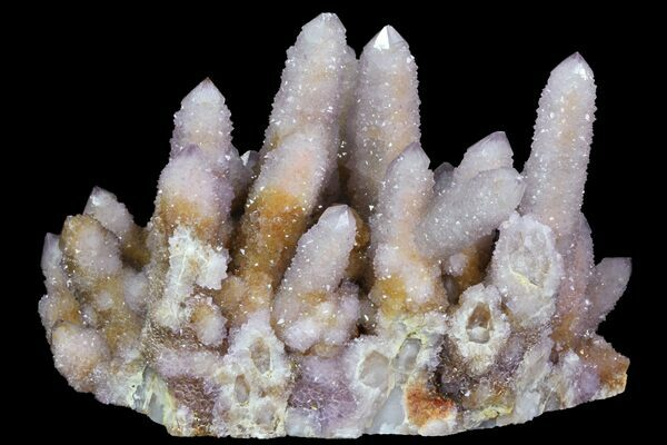 A cluster of cactus amethyst from South Africa.  View Cactus Amethyst For Sale