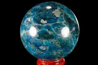 "2.2"" Bright Blue Apatite Sphere - Madagascar For Sale, #78725"