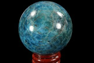 "Buy 2.1"" Bright Blue Apatite Sphere - Madagascar - #78715"