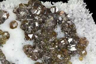 "6.3"" Plate Of Cleiophane (Sphalerite) Crystals - Madan, Bulgaria For Sale, #79274"