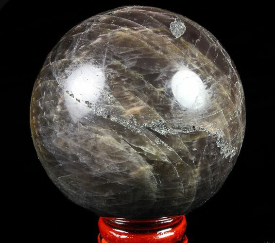 "Polished 2.6"" Black Moonstone Sphere - Madagascar"