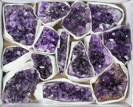 Wholesale Flat: 14 Pieces Uruguay Amethyst Clusters - Grade B For Sale, #79421