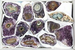 Buy Wholesale Flat: 3 Pounds Uruguay Amethyst - 13 Pieces - #78268