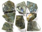 Wholesale Lot: 23 Lbs Free-Standing Polished Labradorite - 15 Pieces - #78029-3