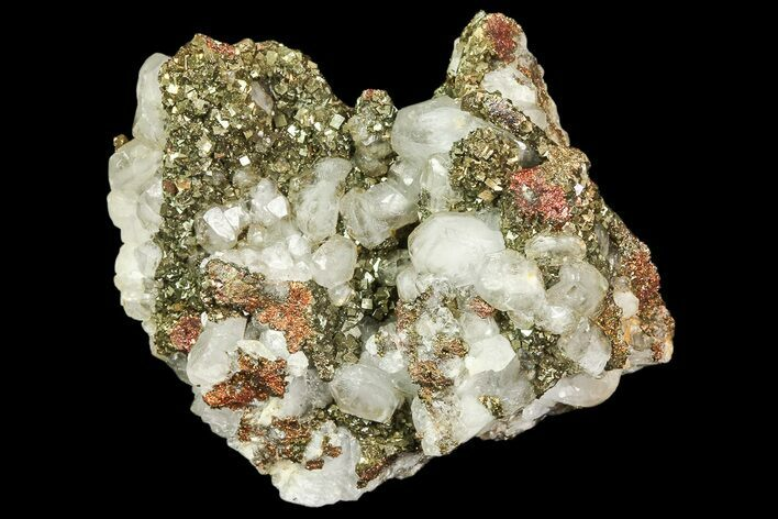 "2.1"" Pyrite On Calcite - El Hammam Mine, Morocco"