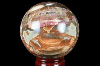 "Buy 4"" Colorful Petrified Wood Sphere - Madagascar - #81544"