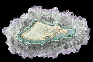 "3.1"" Amethyst Stalactite Slice - Uruguay For Sale, #81800"