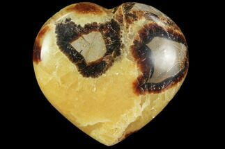 "3.2"" Polished Septarian Heart For Sale, #82013"