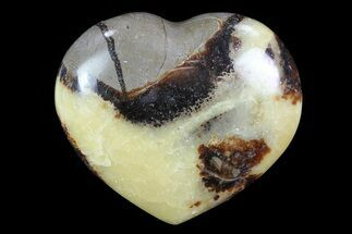 "2.9"" Polished Septarian Heart For Sale, #82034"