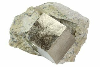 "Buy 1.1"" Natural Pyrite Cube In Rock From Spain - #82084"
