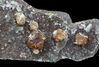 "5.3"" Spessartine Garnets & Quartz - China For Sale, #69734"