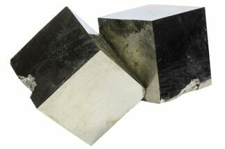 "2.9"" Natural Twinned Pyrite Cubes From Spain For Sale, #82109"