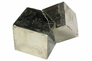 "Buy 2.7"" Natural Twinned Pyrite Cubes From Spain - #82111"