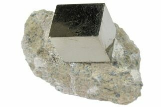 "Buy .7"" Natural Pyrite Cube In Rock From Spain - #82054"