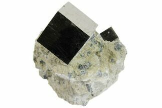 ".8"" Natural Pyrite Cube In Rock From Spain For Sale, #82082"