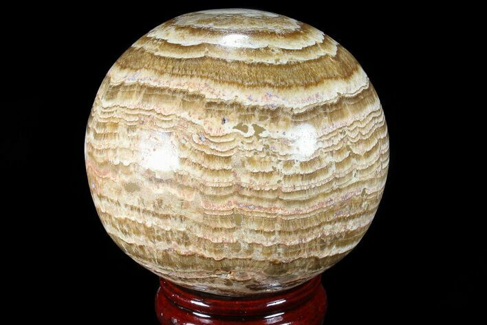 "3.6"" Polished, Banded Aragonite Sphere - Morocco"