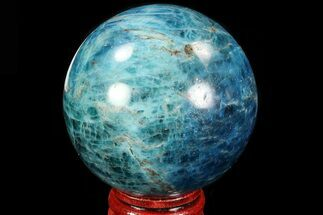 "2.25"" Bright Blue Apatite Sphere - Madagascar For Sale, #83081"