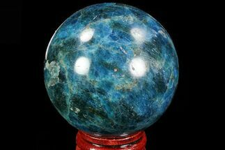 "Buy 2.15"" Bright Blue Apatite Sphere - Madagascar - #83092"