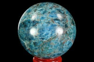 "2.2"" Bright Blue Apatite Sphere - Madagascar For Sale, #83321"
