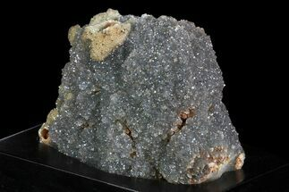 "3.7"" Druzy Quartz Cluster On Wood Base - Uruguay For Sale, #83888"