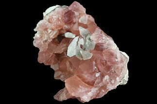 Quartz var. Pink Amethyst & Calcite - Fossils For Sale - #84507
