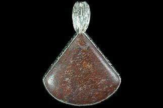 "Buy 1.25"" Agatized Dinosaur Bone (Gembone) Pendant - Sterling Silver - #86089"