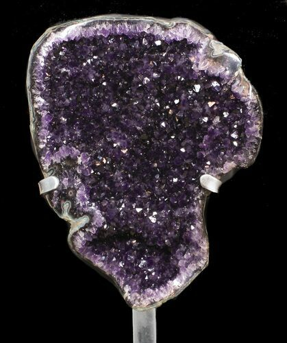 "15.7"" Amethyst Geode With Metal Stand - Super Color"
