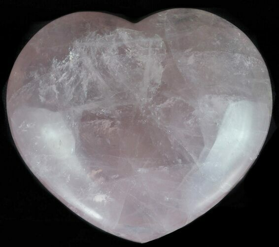 "4.1"" Polished Rose Quartz Heart - Madagascar"