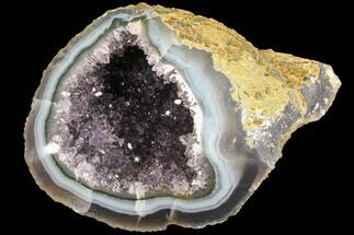 "4.1"" Purple Amethyst Geode With Polished Face - Uruguay For Sale, #87449"