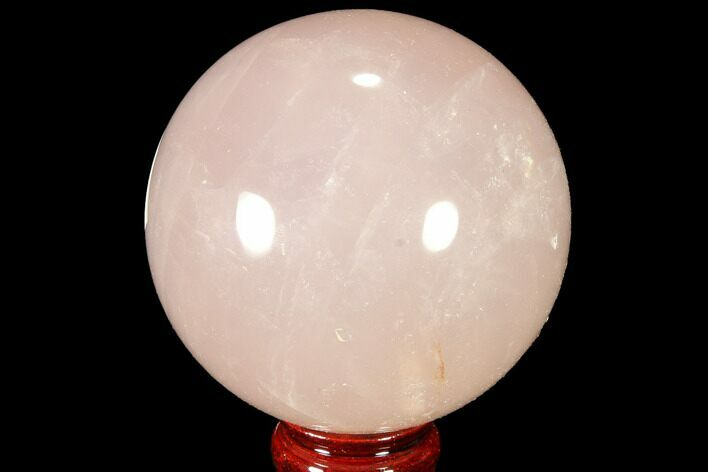 "3.8"" Polished Rose Quartz Sphere - Madagascar"