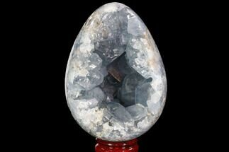 "4.8"" Crystal Filled Celestite ""Egg"" Geode - Large Crystals! For Sale, #88298"