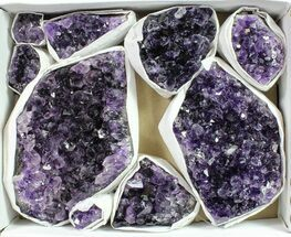Wholesale Lot: Uruguay Amethyst Clusters (Grade A) - 9 Pieces For Sale, #90128