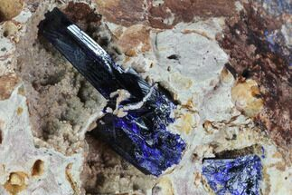 Buy Large Azurite Crystal Cluster on Druzy Quartz - Morocco - #90340