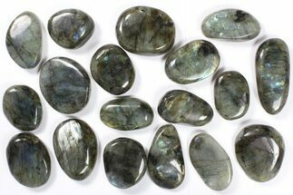 Wholesale Box: Polished Labradorite Pebbles - 1 kg (2.2 lbs) For Sale, #90470