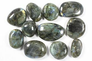 Wholesale Box: Polished Labradorite Pebbles - 1 kg (2.2 lbs) For Sale, #90479