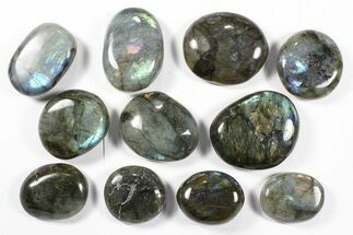 Wholesale Box: Polished Labradorite Pebbles - 1 kg (2.2 lbs) For Sale, #90515
