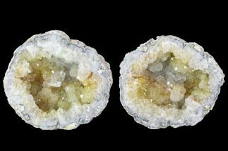 "3.1"" Keokuk Quartz Geode Pair - Iowa For Sale, #91394"