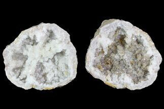 "Buy 4"" Keokuk Quartz and Calcite Geode Pair - Illinois - #91399"
