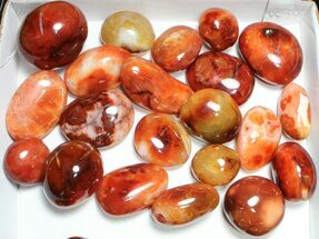 Buy Wholesale Lot: Polished Carnelian Pebbles - 5 kg (11 lbs) - #91447