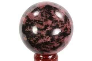 Rhodonite with Manganese Oxide - Fossils For Sale - #95037