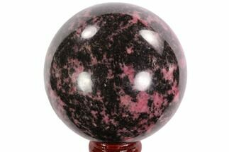 "Beautiful, 2.6"" Rhodonite Sphere - Madagascar For Sale, #95051"