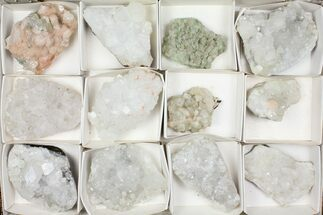 Buy Mixed Indian Mineral & Crystal Flat - 12 Pieces - #95605