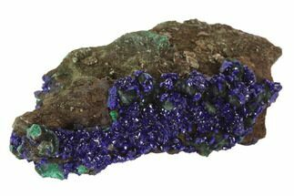 "2.45"" Sparkling Azurite Crystals With Malachite - Laos For Sale, #95804"