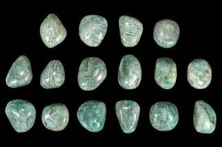 "Buy 2"" Polished Graphic Amazonite Palm Stones - 1 KG Bag - #96067"